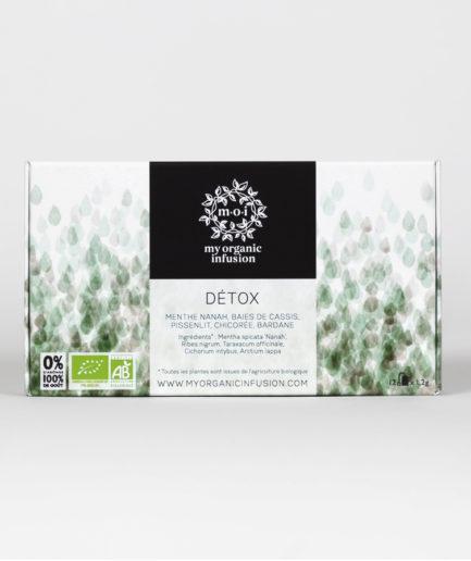 Découvrez notre infusion Détox bio en coffret de 12 infusettes.