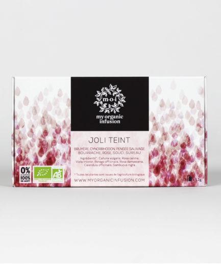 Découvrez notre infusion Joli Teint bio en coffret de infusettes.