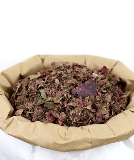 Découvrez nos feuilles de Vigne Rouge bio en fleurs entières de haute qualité pour créer votre infusion de feuilles de Vigne Rouge bio.