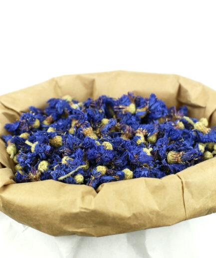 25 grammes de fleurs séchées de Bleuet bio pour créer votre infusion de Bleuet bio.